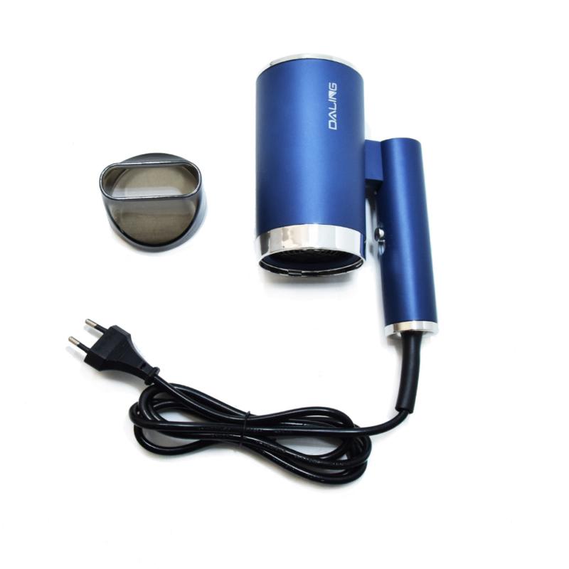 Intelligens hőszabályzós hajszárító 1400W – a fényes hajkoronáért / divatos indigókék színben (DL-3011)