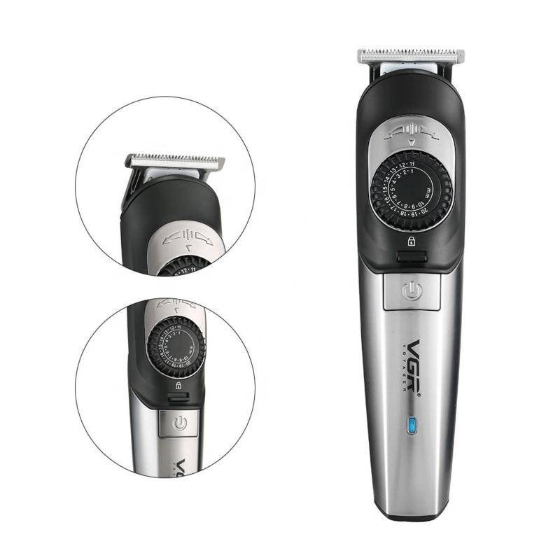 Professzionális vezeték nélküli hajnyíró – 1 mm-től 20 mm-ig állítható fokozattal / biztonsági zárral (V-088)