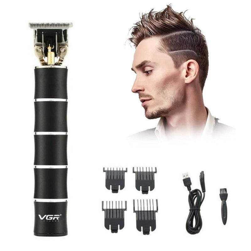 Professzionális T-pengés trimmelő – vezeték nélküli hajnyíró / elegáns fekete (V-193)
