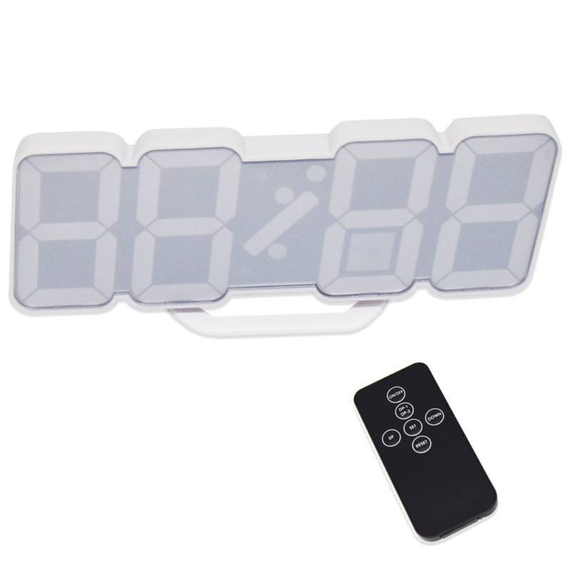 Távirányítós digitális LED óra hőmérővel - színváltós / asztali és fali óra