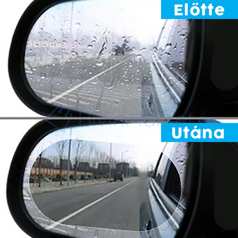 Ovális vízlepergető fólia visszapillantó tükörre / 150x100 mm