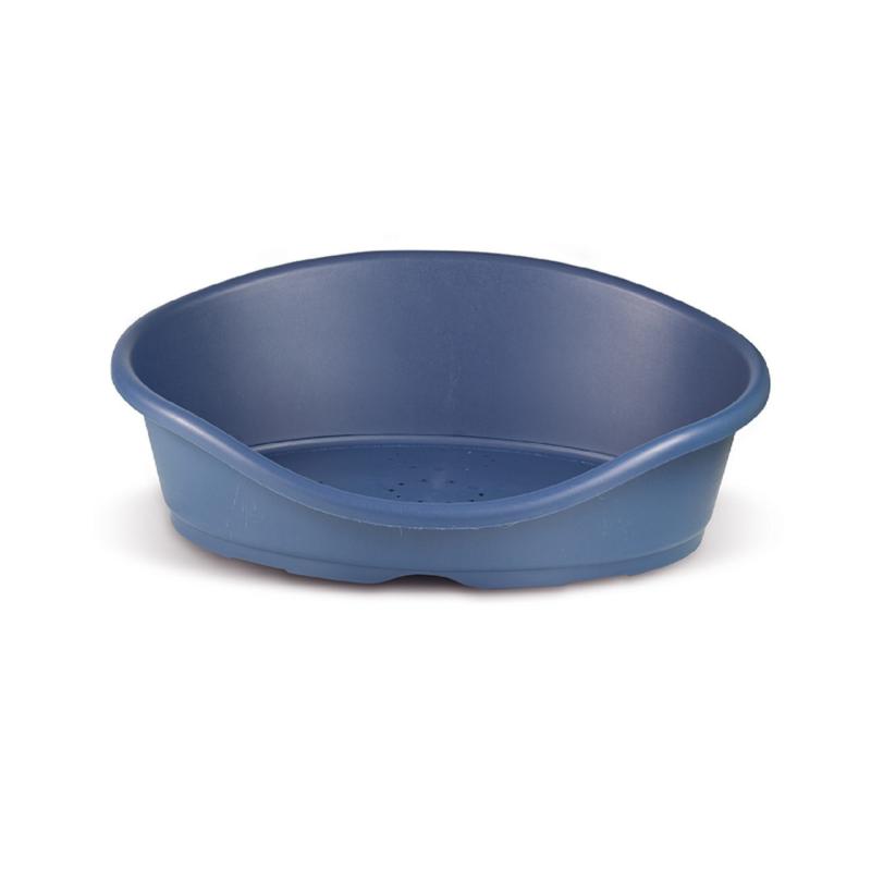 Műanyag kutya- és macska fekhely,80x60x25 cm / kék (PSM-609072)