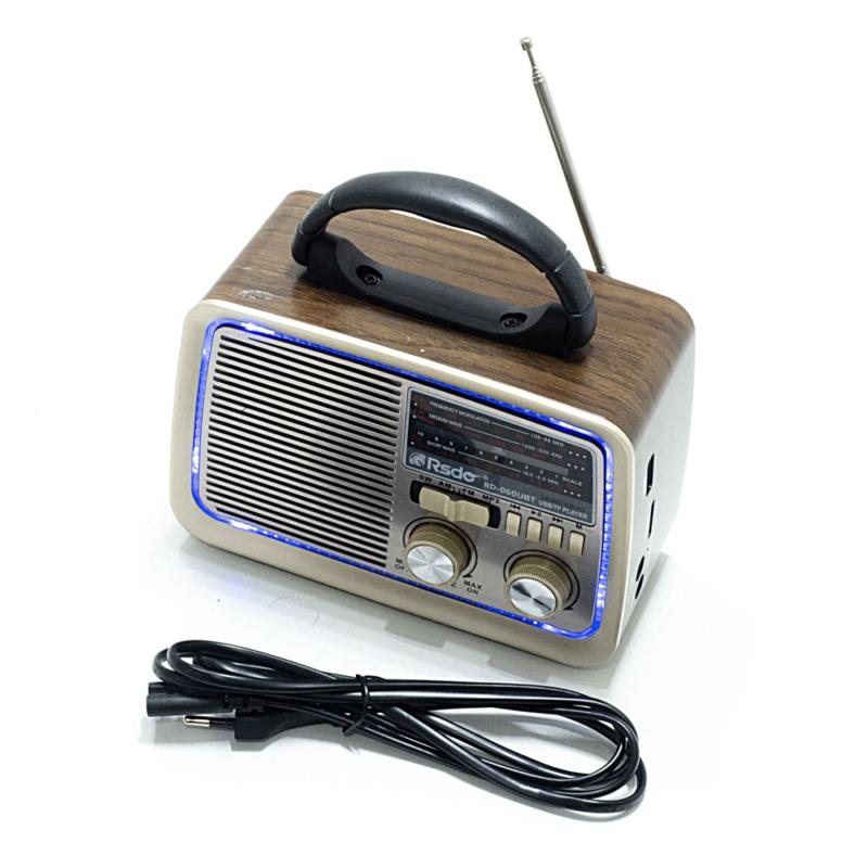 Hordozható rádió, retro design / MP3, AUX, USB, TF-kártya, rádióadás lejátszás