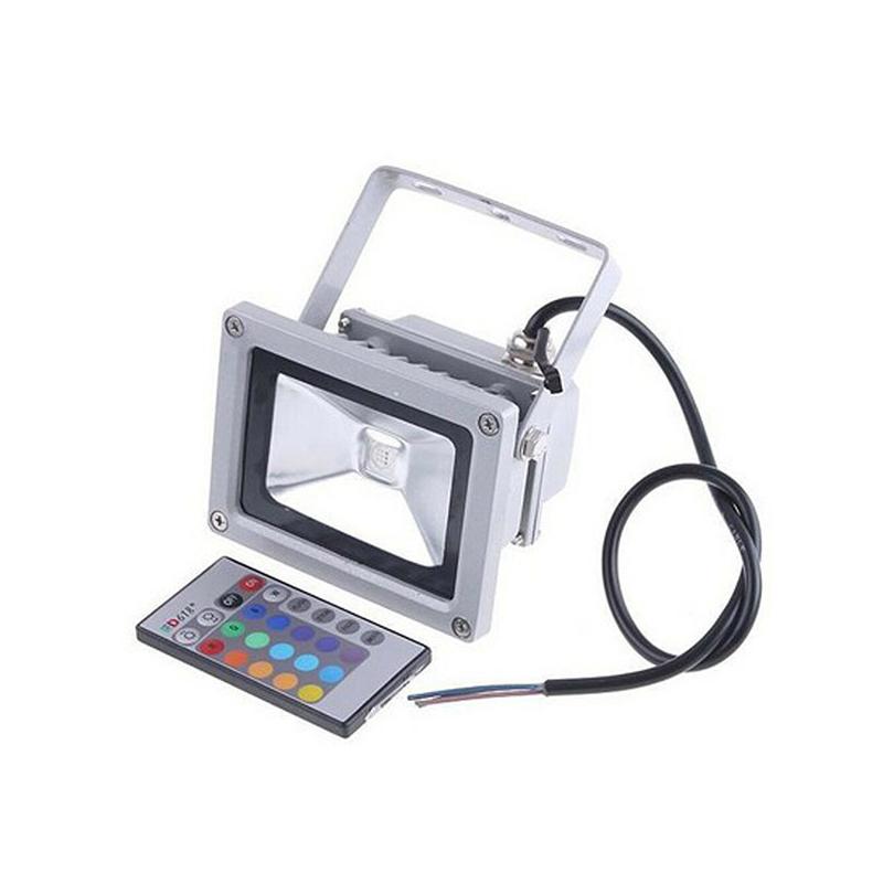 10W színváltós RGB LED reflektor távirányítóval, kül- és beltérre