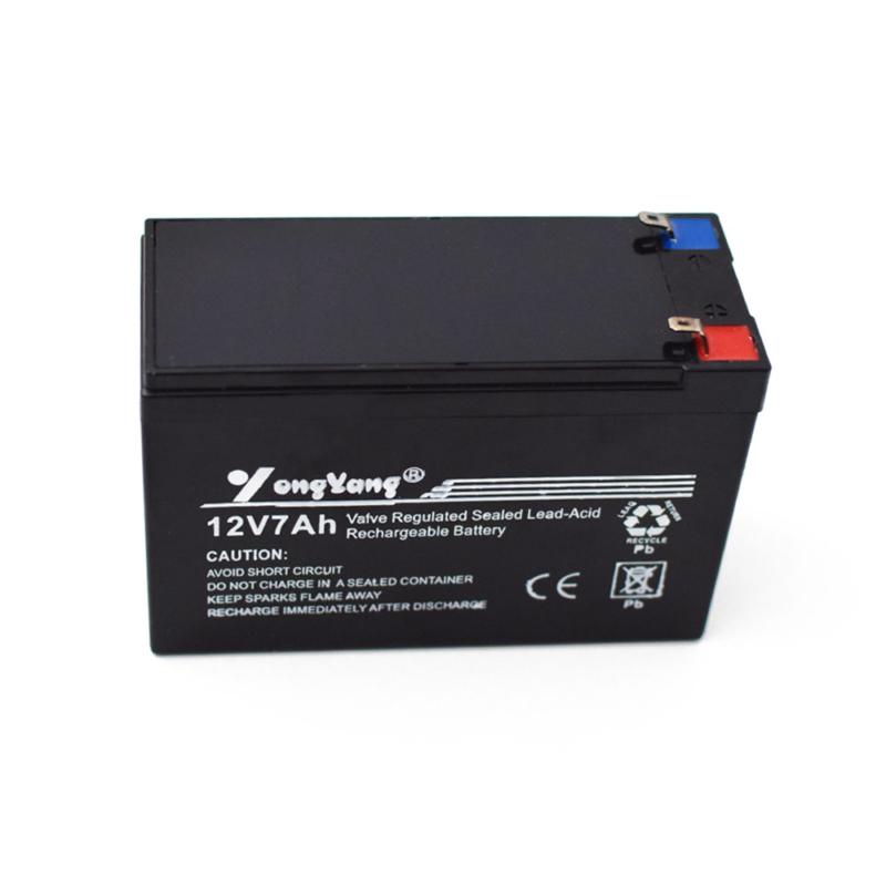 12V feszültségű, 7 Ah kapacitású zárt savas, újratölthető akkumulátor