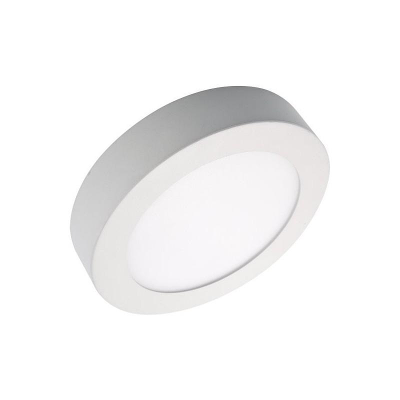 12W kerek, külső szerelésű LED panel, meleg fehér