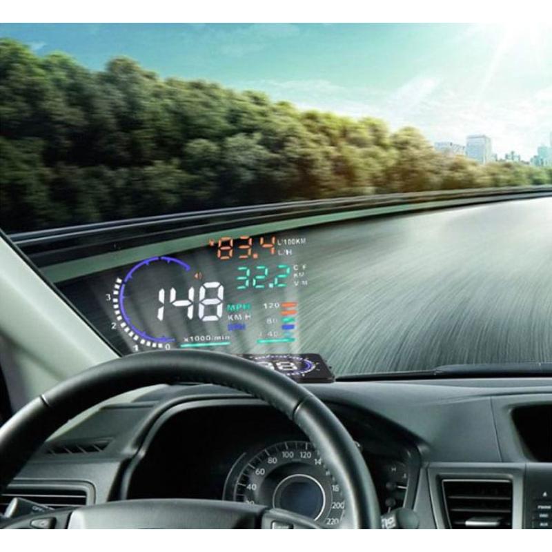 HUD - Univerzális szélvédőre vetítő sebesség kijelző autóba