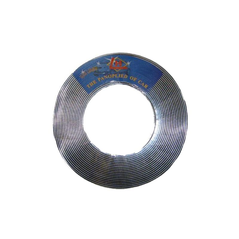 Króm díszcsík / dekorációs csík - 15 méter x  6 milliméter (KCS-A-6)