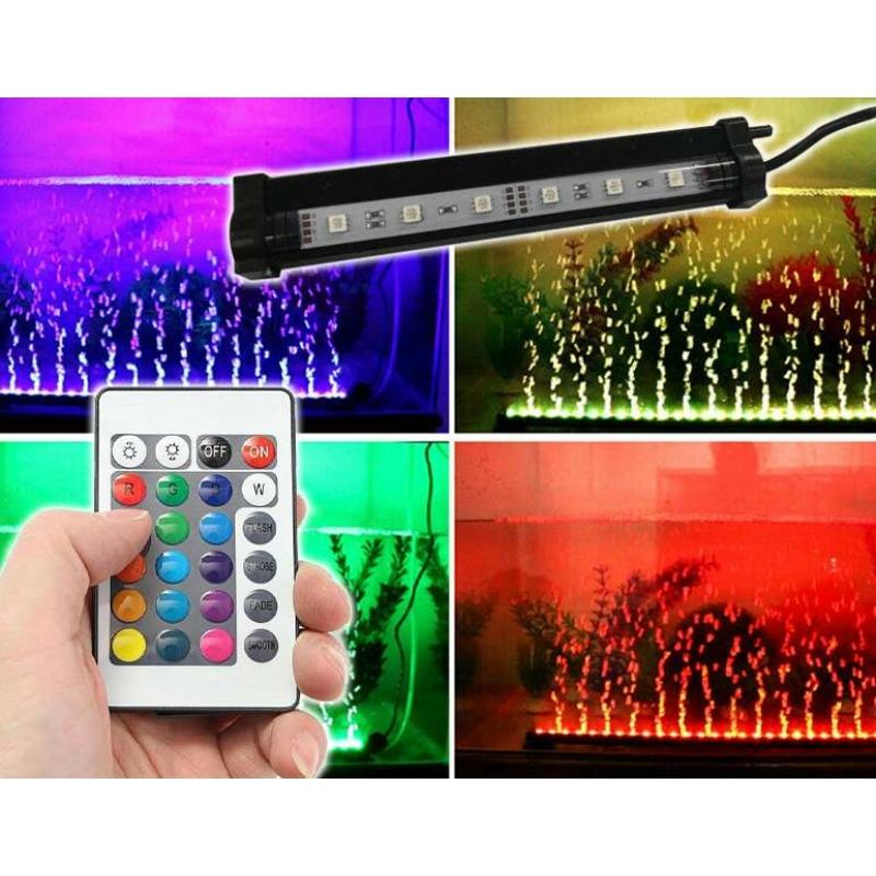 2W LED akvárium világítás távirányítóval / RGBW akváriumlámpa (MA-6)