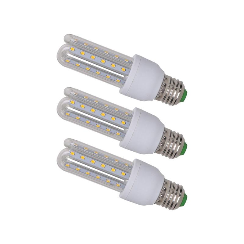 3 db energiatakarékos 7W LED fénycső E27 foglalatba / 7W=~105W - meleg fehér