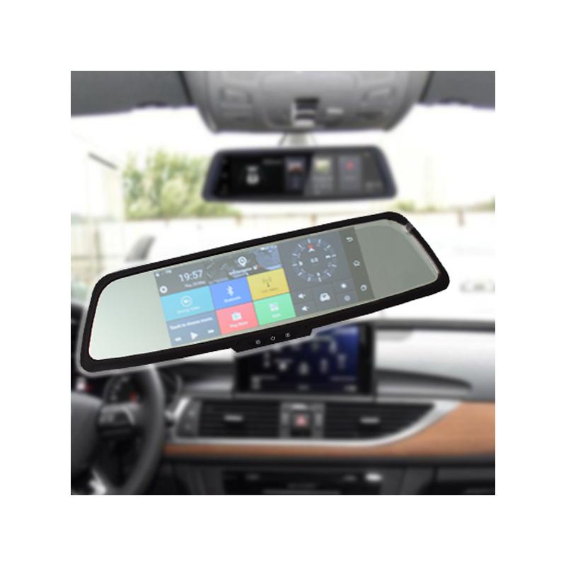 Okos visszapillantó tükörbe épített autós útvonalrögzítő kamera navigációval + tolatókamera + 2/3G + GPS + Multimédia lejátszó