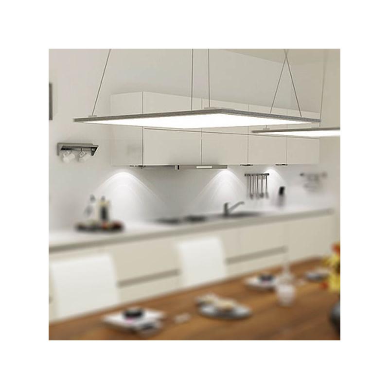 40W=360W ultra vékony LED PANEL / négyzetes kivitel - 60x60cm - SMD chippel, hideg fehér