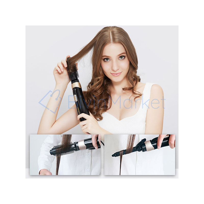 4 az 1-ben egyenesítő, formázó és szárító hajkefe / elektromos hajformázó minden hajtípusra, cser...