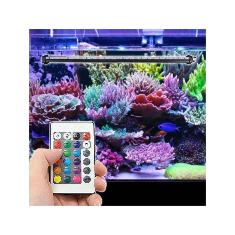 5W LED akvárium világítás távirányítóval / RGBW akváriumlámpa (MA-24)