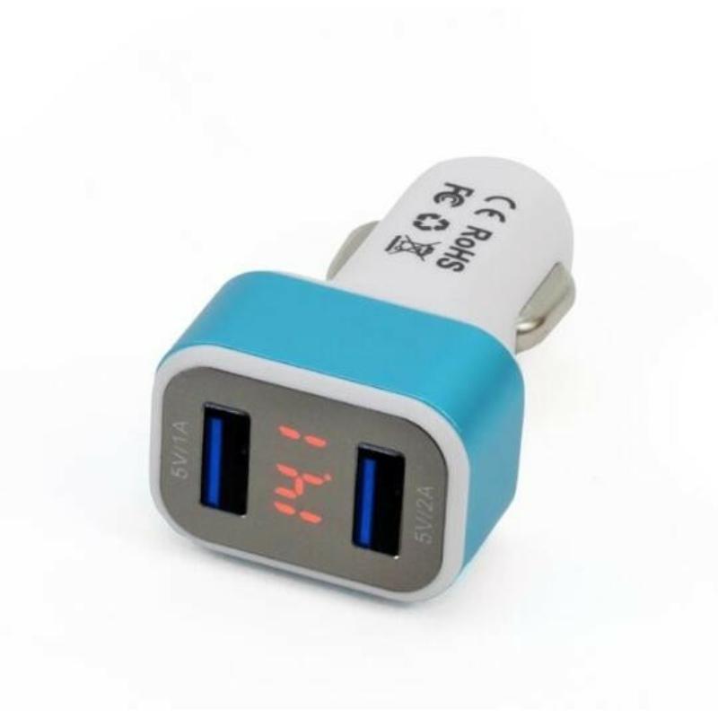 2-es USB töltő + Digitális voltmérő 71223/01028