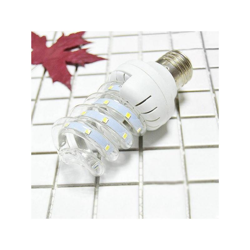 7W=~85W spirál LED fénycső, hideg fehér