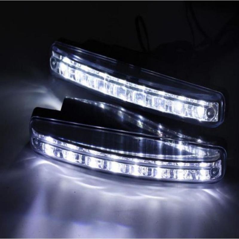 DRL 8 LED autós nappali menetfény / E jeles