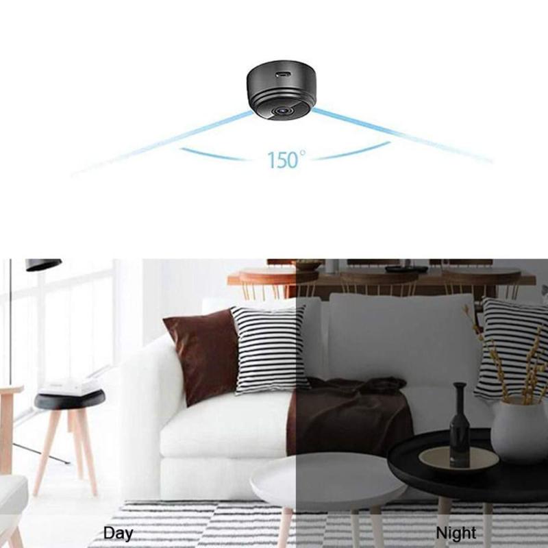 Mini HD videó kamera, Wifi kapcsolattal - Applikáción figyelhető élőkép / mágneses rögzítés
