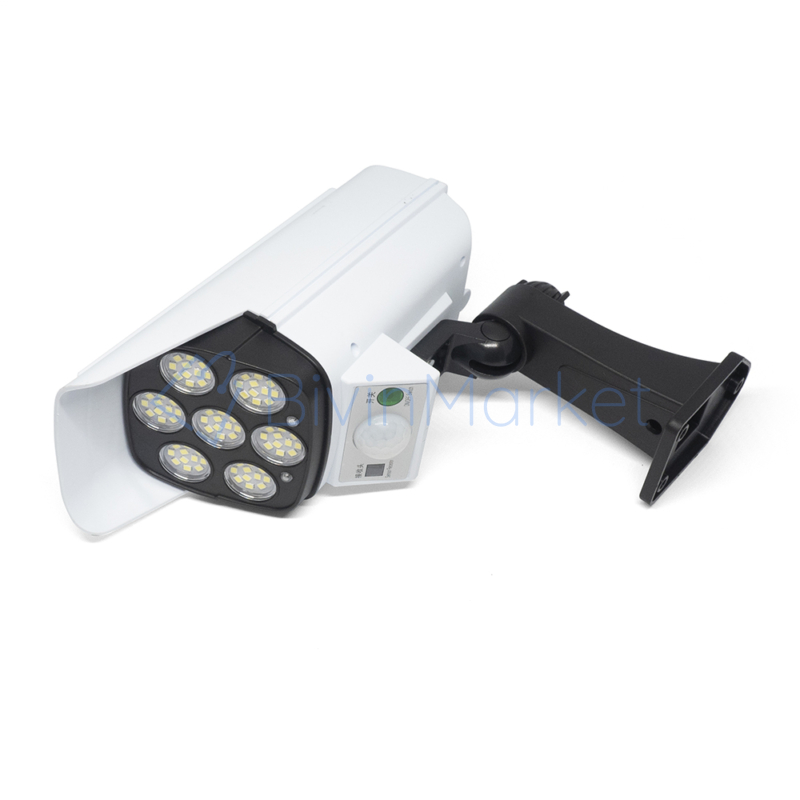Távirányítós LED reflektor / álkamera – mozgásérzékelős