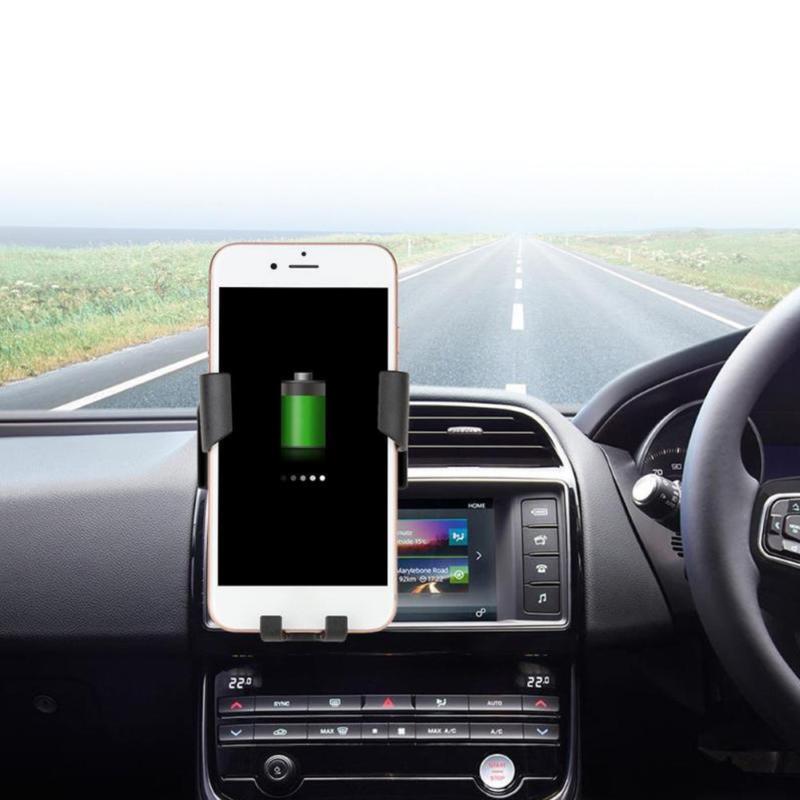 K81 Autós vezeték nélküli telefontöltő és tartó - szellőzőrácsba rögzíthető