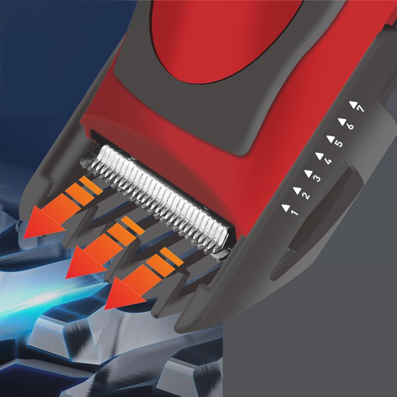 Hoomei akkumulátoros hajnyírógép - vörös