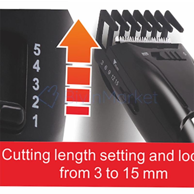 Hoomei hajvágó szett töltődokkal – 3-15 mm-es vágási magasság