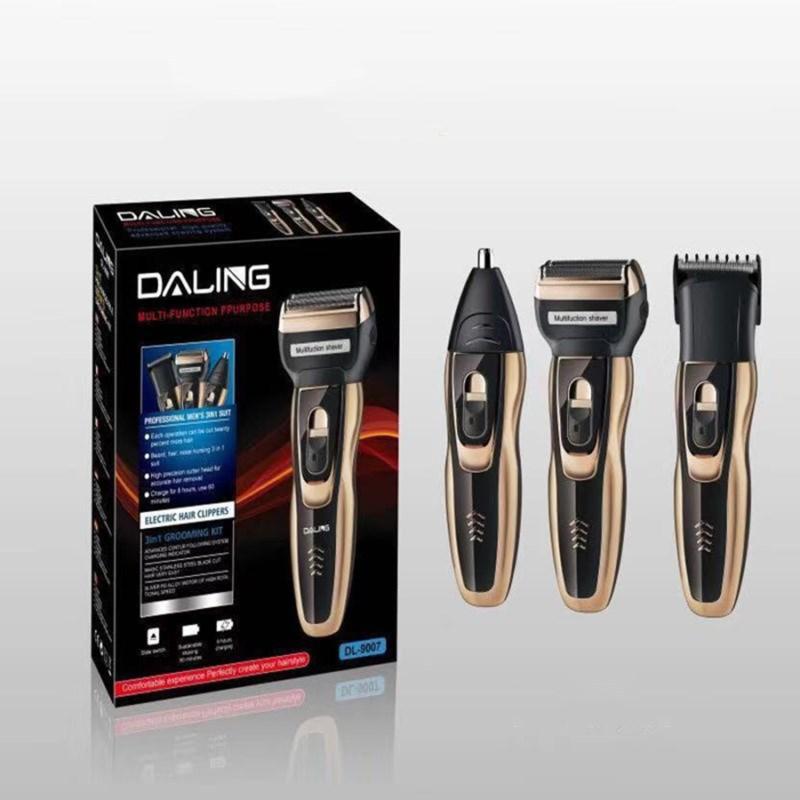 Daling 3 az 1-ben borotva szett / borotva, hajnyíró, orrszőrnyíró gép (DL-9007)