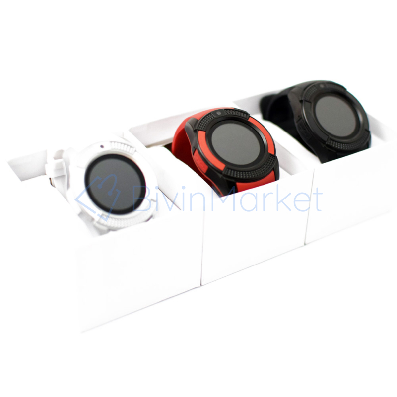 Érintőkijelzős kerek okosóra / kamerával és telefon funkcióval - fekete