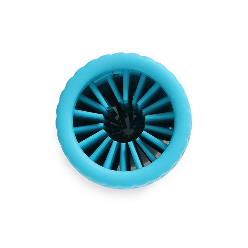 Szilikon kutyalábmosó / sártalanító mosóedény - kék