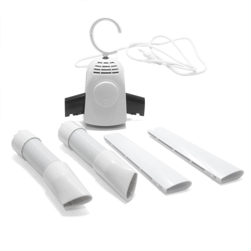 Hordozható ruhaszárító fogas / 3 fúvófejjel, cipőszárító adapterrel
