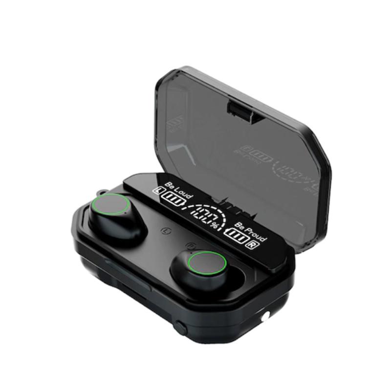 Vezeték nélküli Bluetooth fülhallgató / 2in1 Powerbank töltőtokkal
