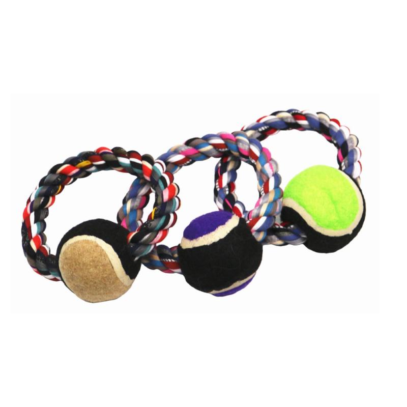 Labdás kötéljáték kutyáknak (BPS-8600)