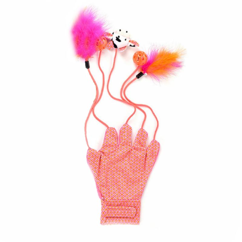 Interaktív kesztyűs játék cicáknak - rózsaszín (BPS-10309)