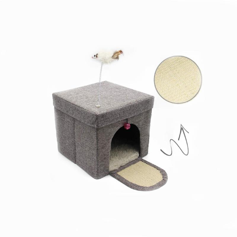 Összecsukható – hordozható macskaház / játékkal (BPS-10707)