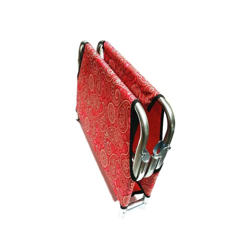 XS-es összecsukható kutyaágy / fémvázas kutyafekhely, piros – 60x40 cm