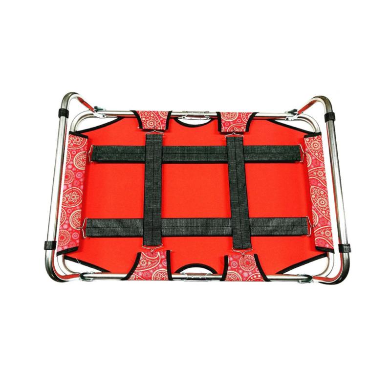 S-es összecsukható kutyaágy / fémvázas kutyafekhely, piros – 70x45 cm