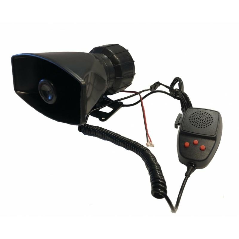 3 Szólamú, mikrofonos sziréna SZI-HS78016-3 12V/50W