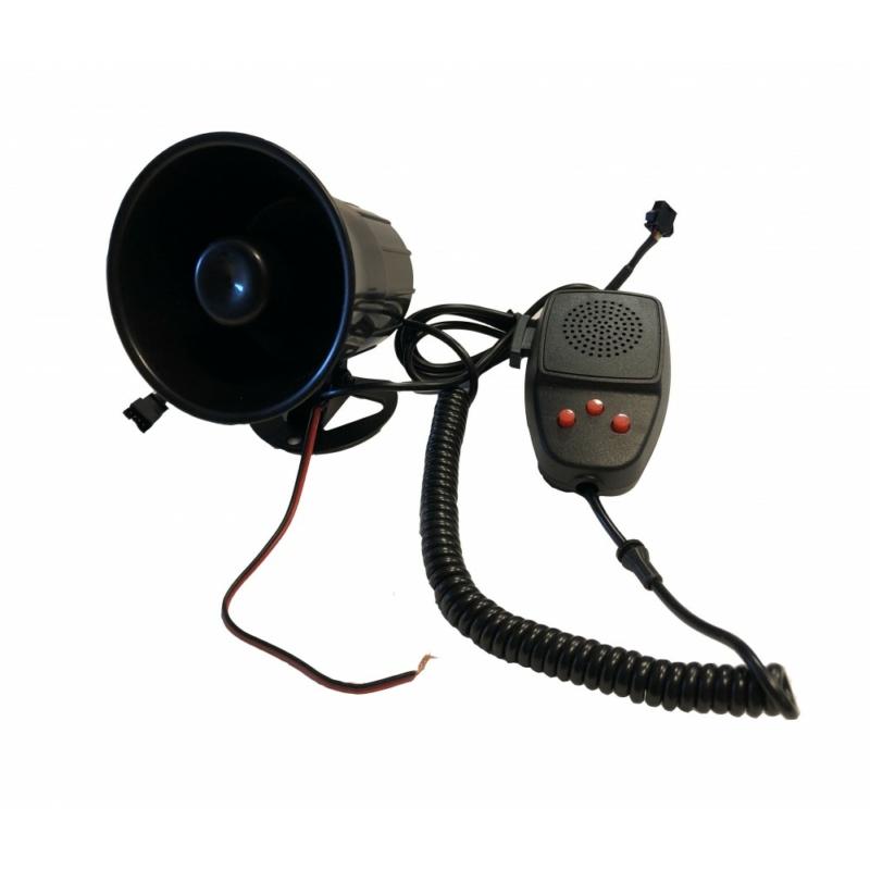 3 Szólamú, mikrofonos sziréna SZI-HS78017-3 12V/50W