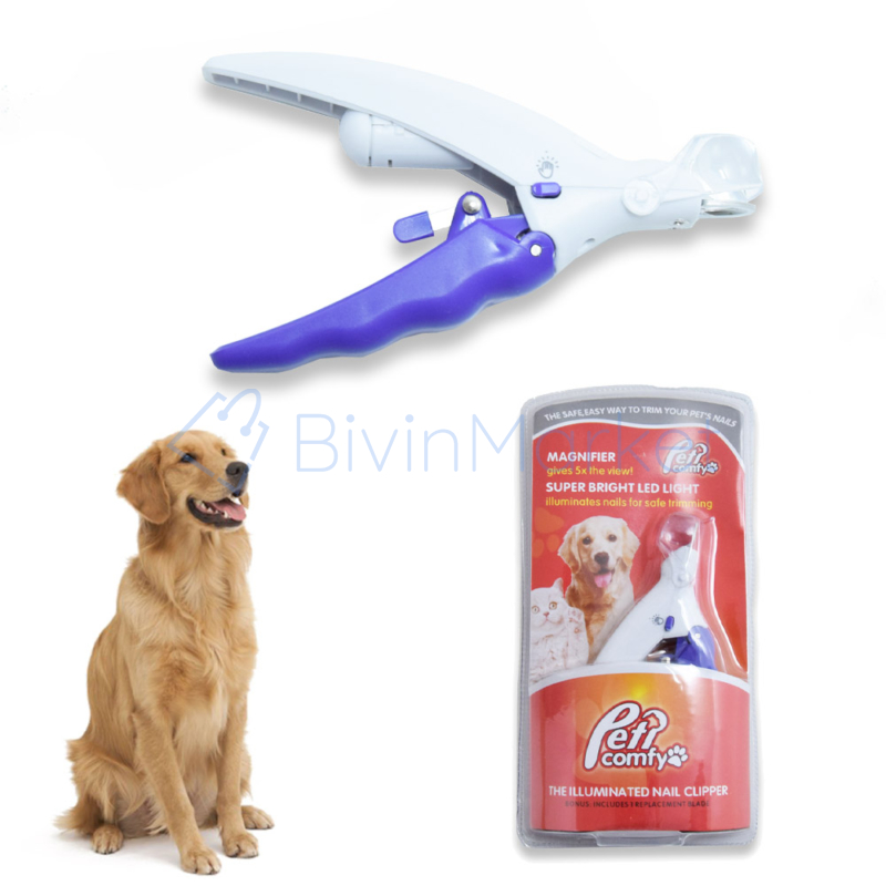 Karomvágó kutyáknak - világító LED fénnyel és nagyítóval