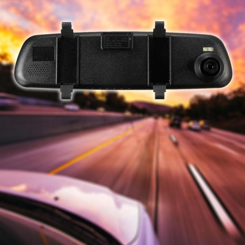 FHD Visszapillantó tükörbe épített autós útvonalrögzítő kamera / magyar menüvel