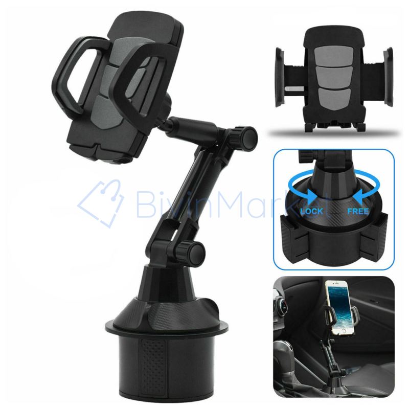 Autós pohártartóba tehető telefontartó / állítható