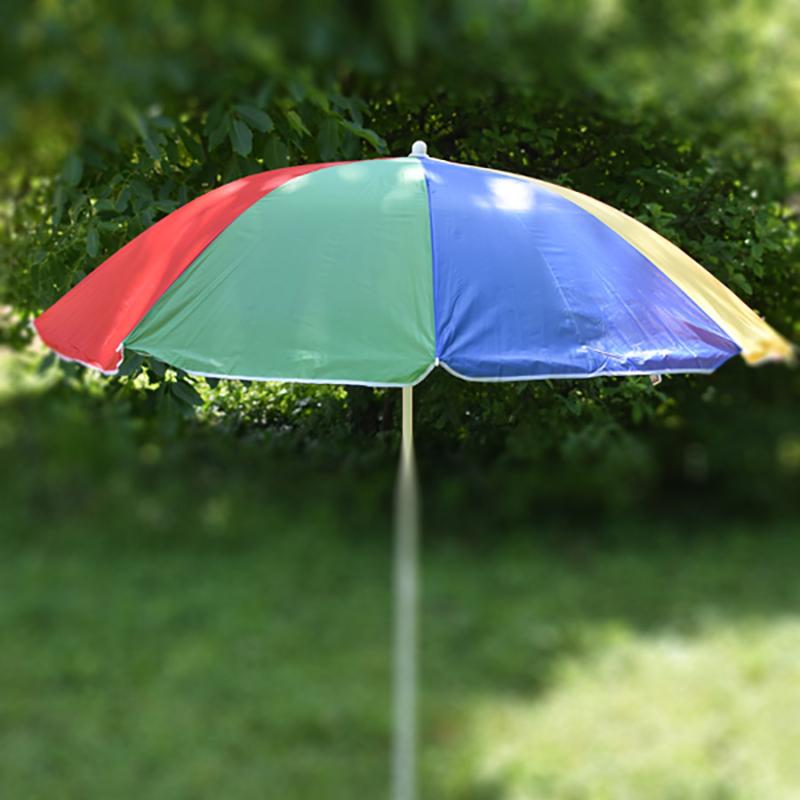 Csíkos napernyő állítható leszúró állvánnyal / 180x150 cm (A)