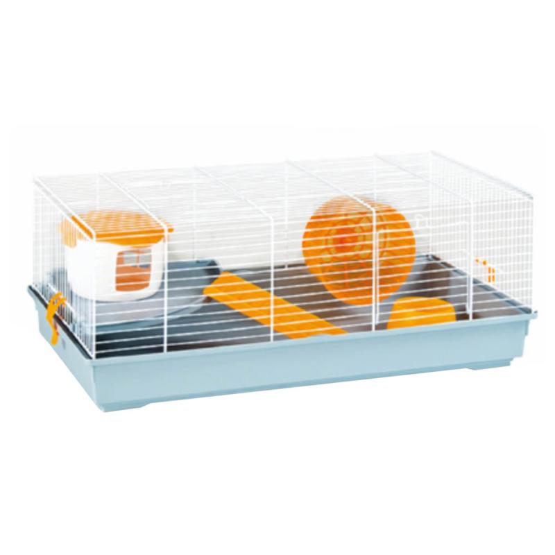 Teljesen felszerelt hörcsög ketrec - kétszintes, narancssárga színben (PSM-609104)