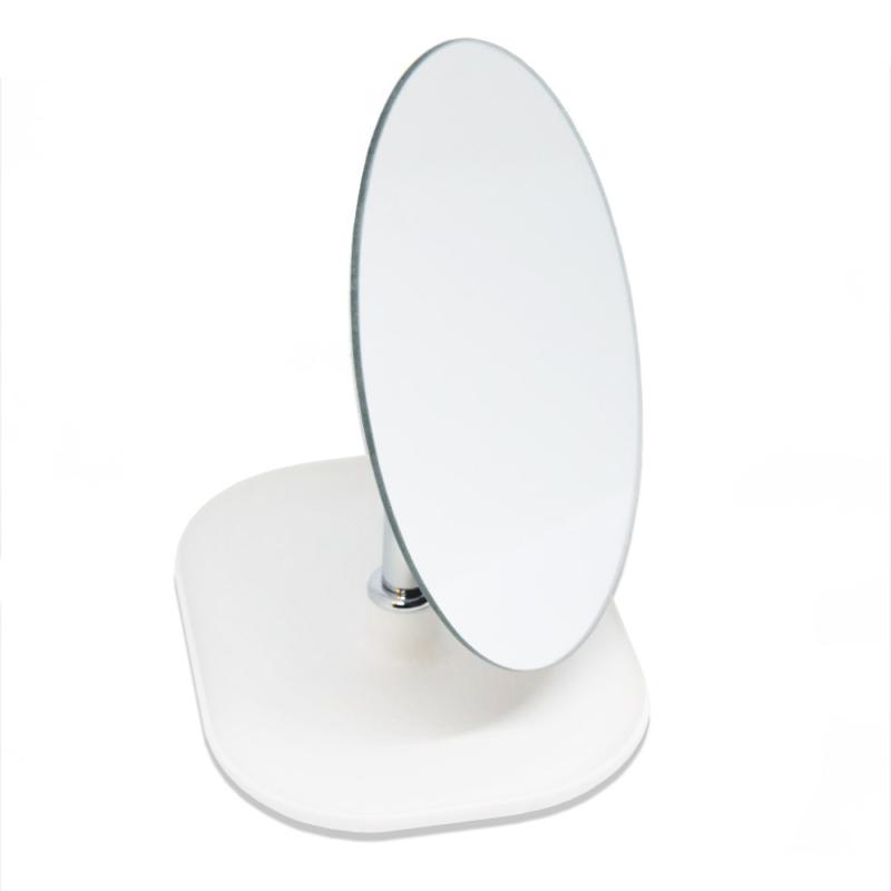 Kozmetikai tükör – Ovális, fehér talppal