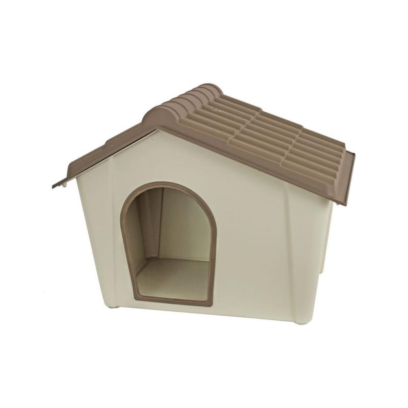 Műanyag kutyaház kül- és beltérre, M-es méret / 79x60x59 cm