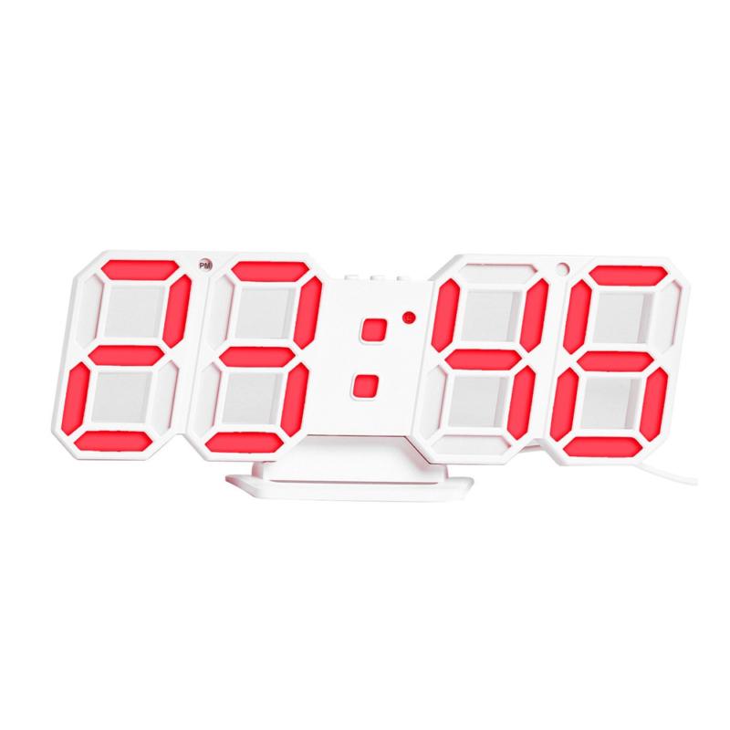 Digitális LED óra hőmérővel / asztali és fali óra - piros