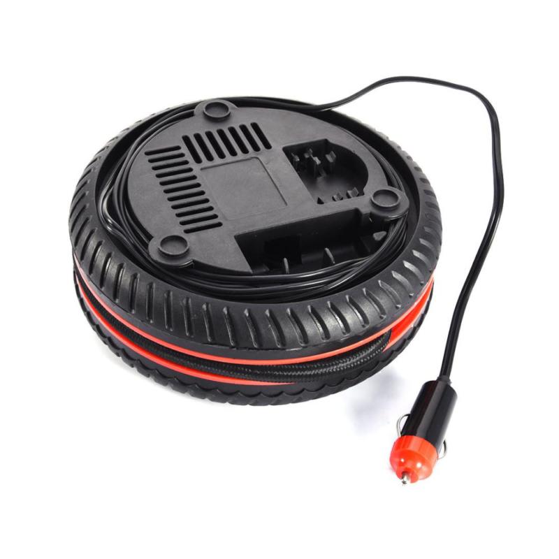 Mini kerék formájú autós kompresszor szivargyújtós csatlakozóval / 18 bar, 260PSI