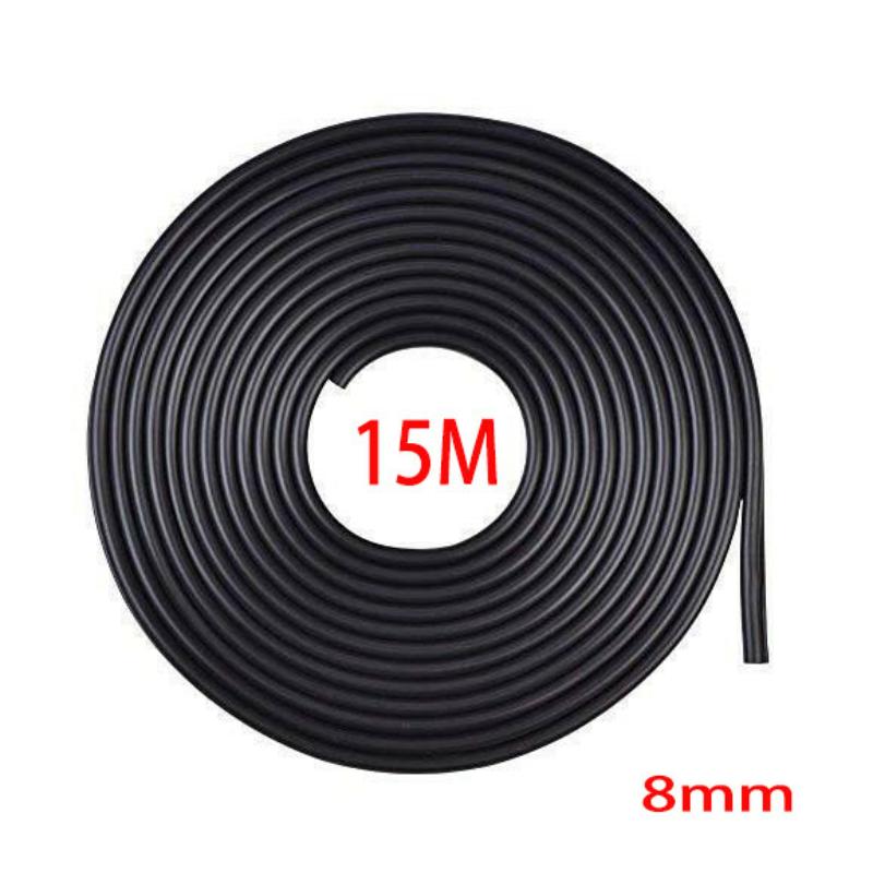 Fekete 15m hosszú 8mm széles díszcsík KCS-A-8BK