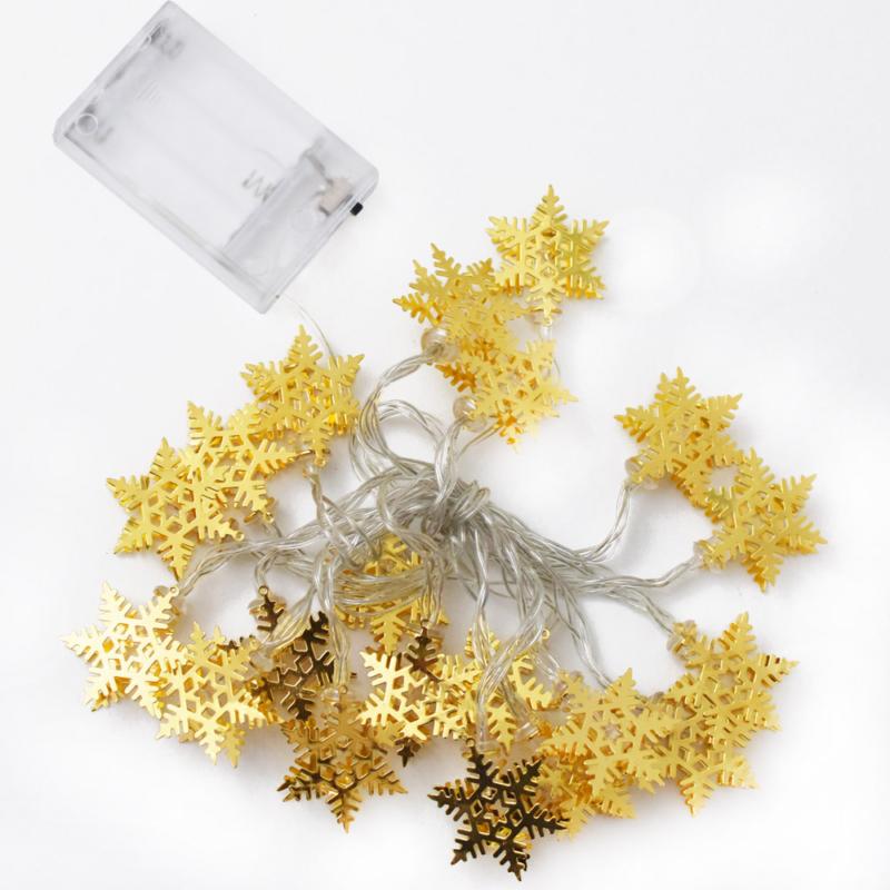 Prémium karácsonyi LED-füzér / 20 db LED, hópihés (1101660)