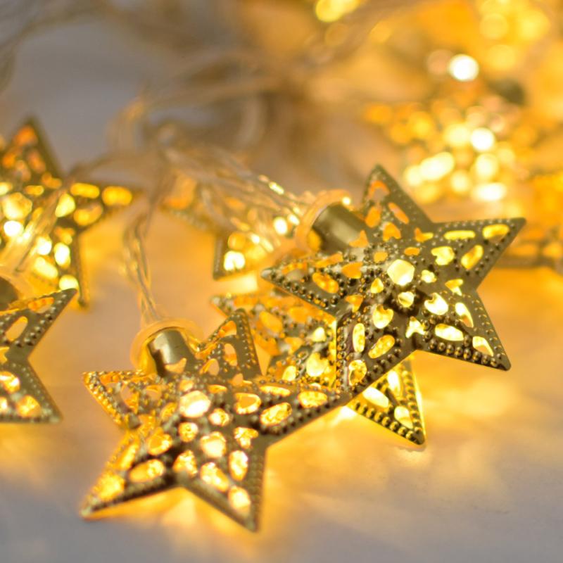 Prémium karácsonyi LED-füzér / 20 db LED, csillagos (1101659)